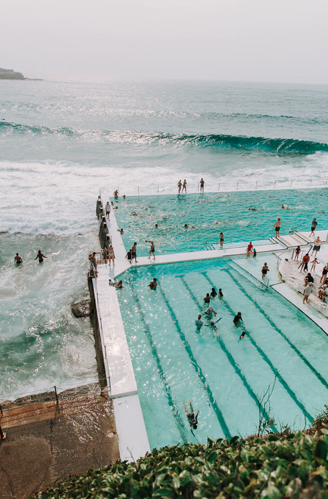 coastal view of bondi icerbergs- one of sydney's most famous ocean pools
