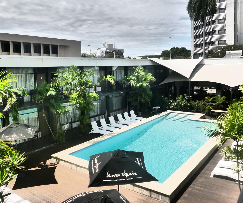 pool area of darwin hotel