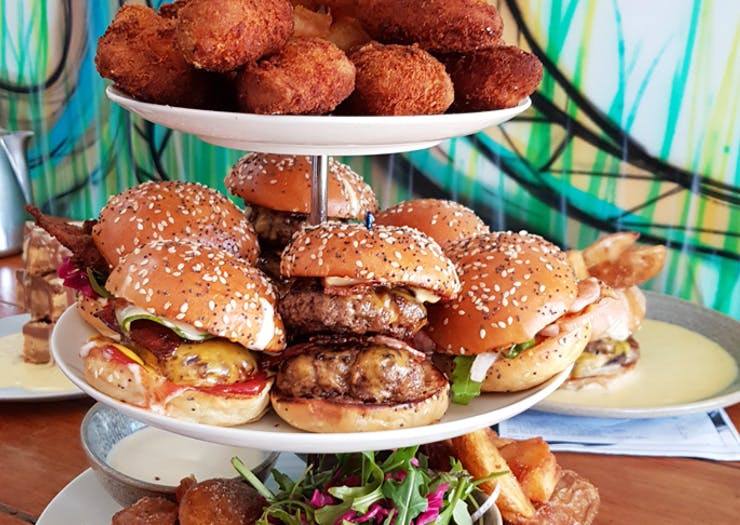 We Just Found A Burger High Tea And Our Arteries Can't Even