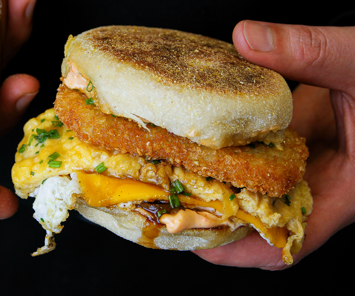 loaded egg muffin