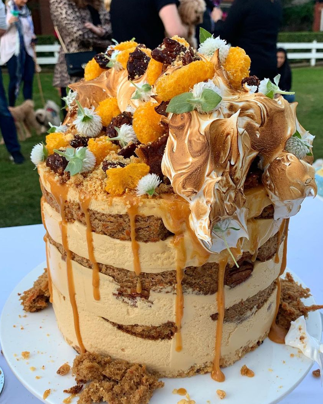 rustic cake on table