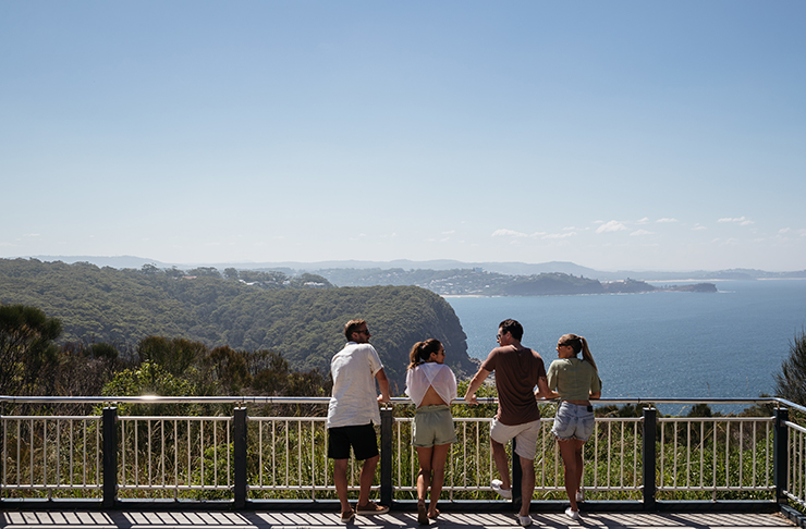 people lookout out at captain cook lookout