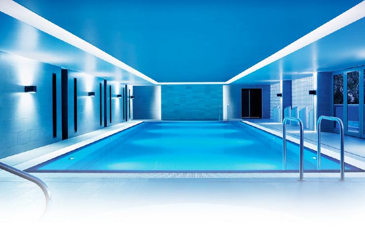 interior of spa pool at chi the spa