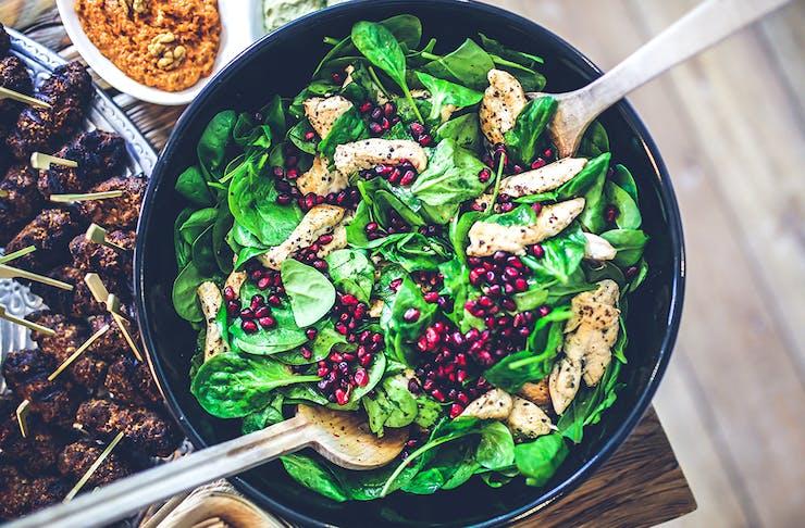 a large green salad