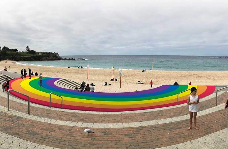 rainbow path at coogee beach