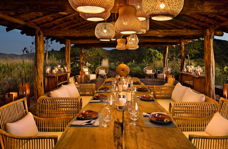restaurant inside eco-friendly resort in costa rica