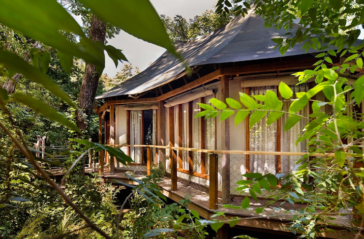 eco resort in costa rica behind rainforest jungle