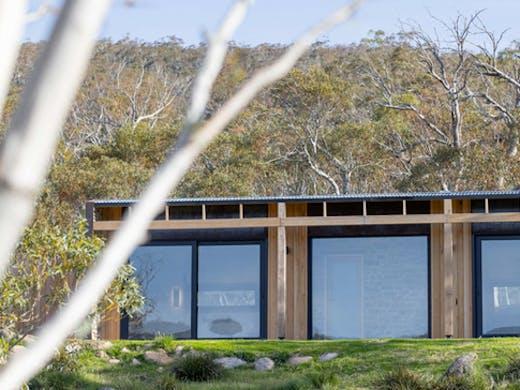 hidden off grid cabin in alpine bush
