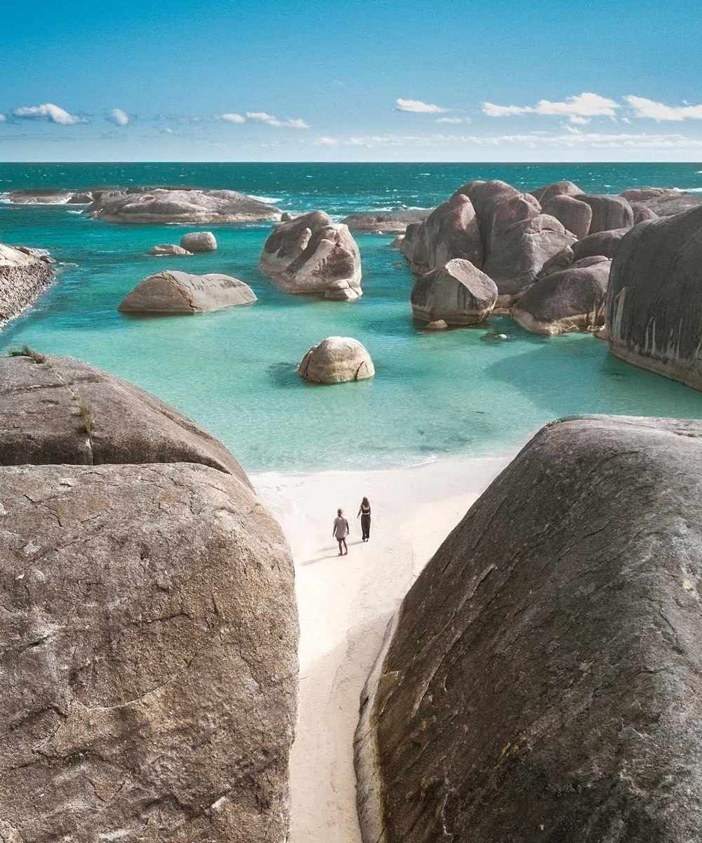 white sand beach and crystal clear water of Denmark