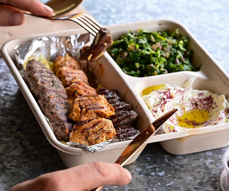 platter of lebanese food