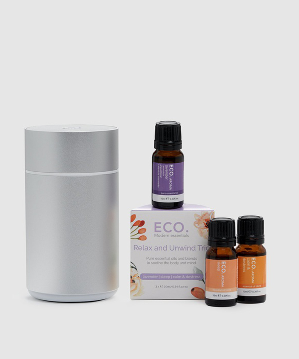 An Eco Modern Essentials diffuser with oils