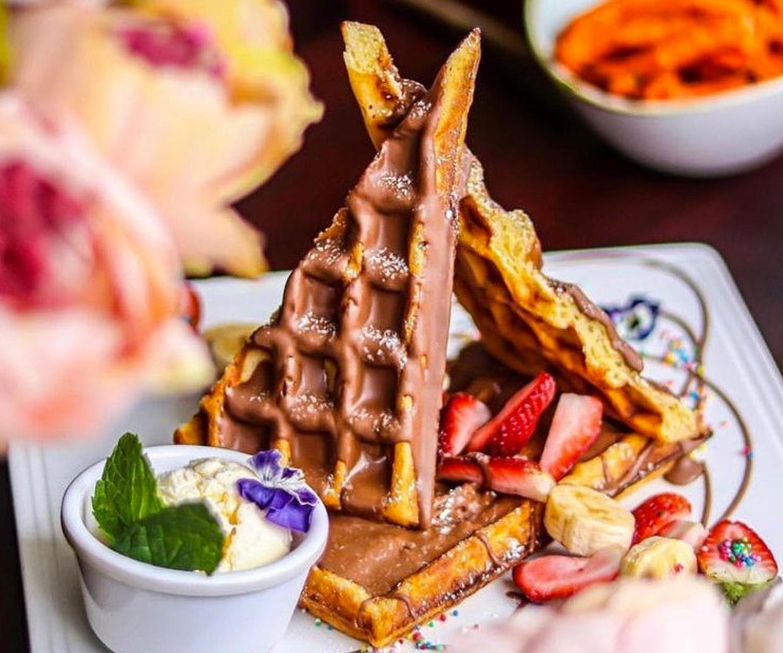 waffle pyramid