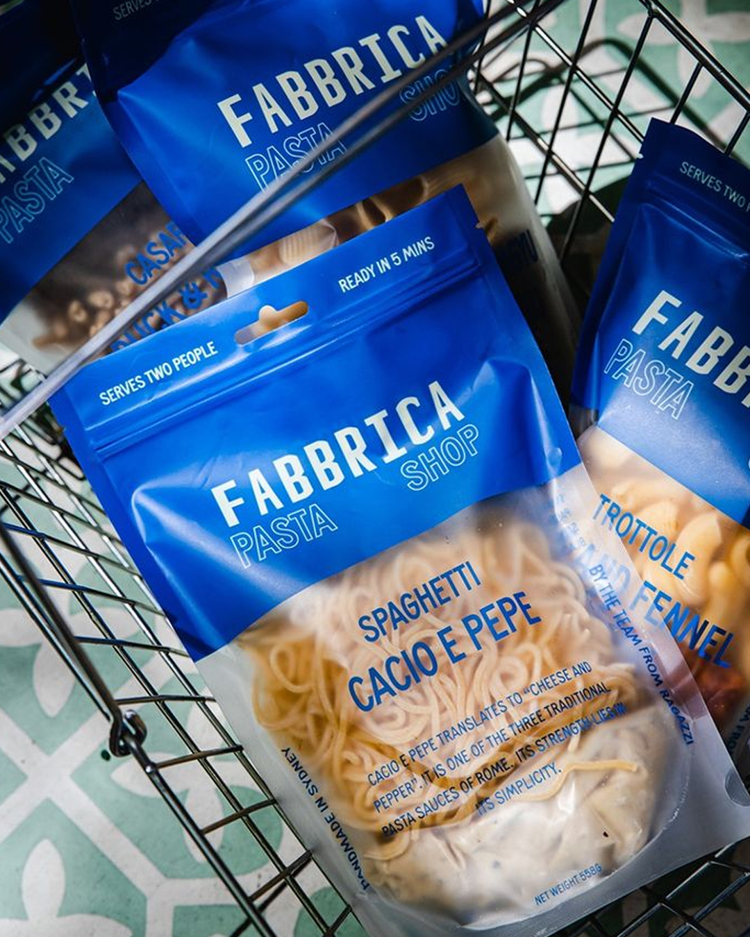 packets of fresh pasta
