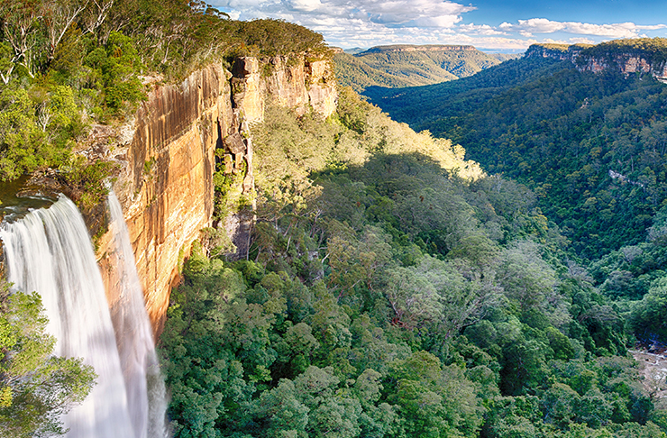 valley cascades over national park