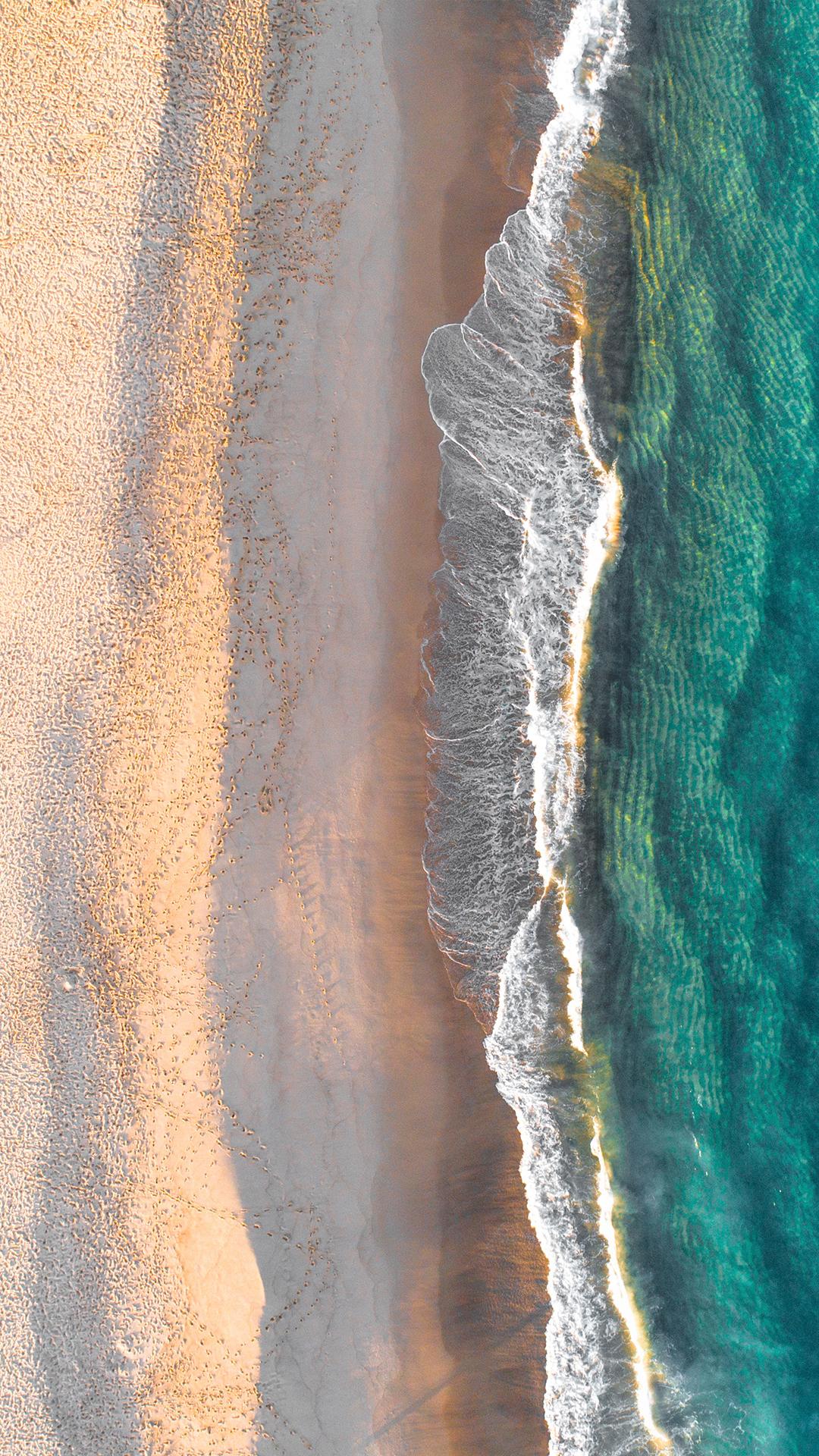 aeria shot of empty beach