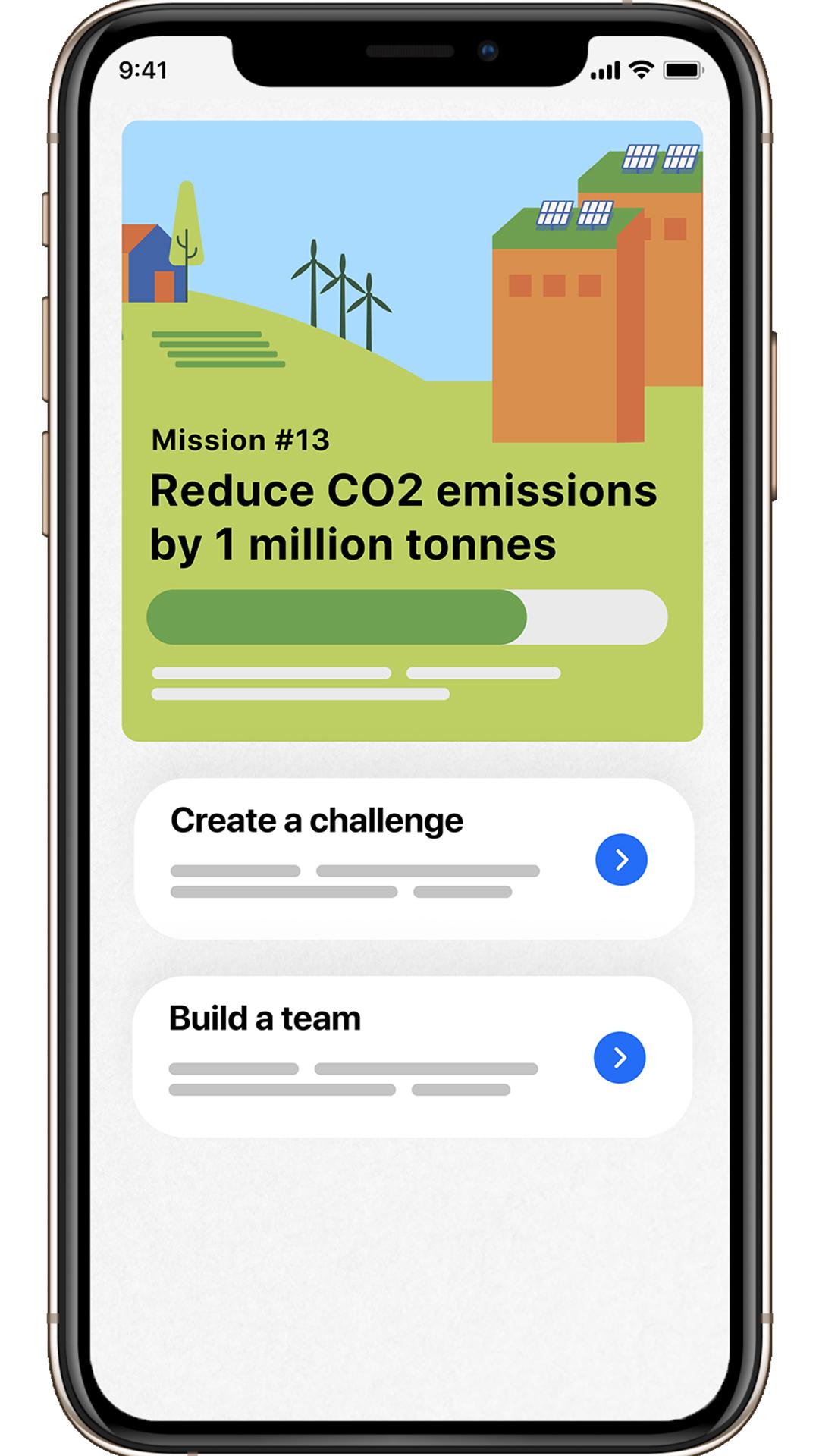 screenshot of new app called good empire