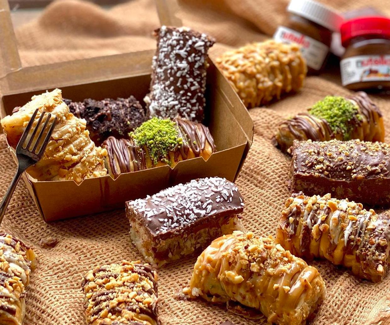 assortment of sweet baklava