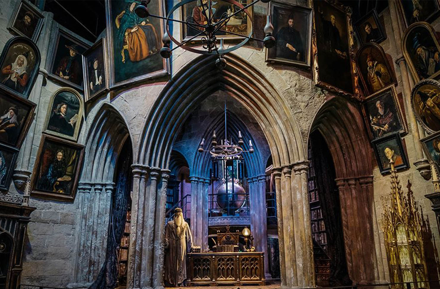 inside dumbledore's office on the harry potter studio tour in london