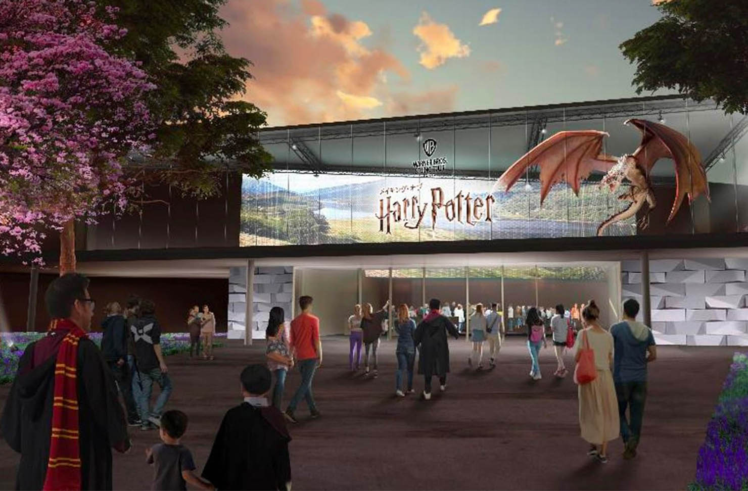 an illustration of harry potter world coming to tokyo