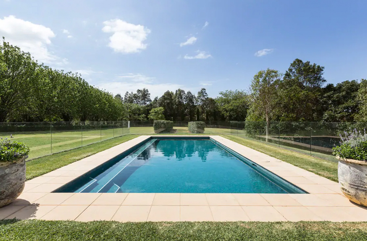 outdoor pool on farm