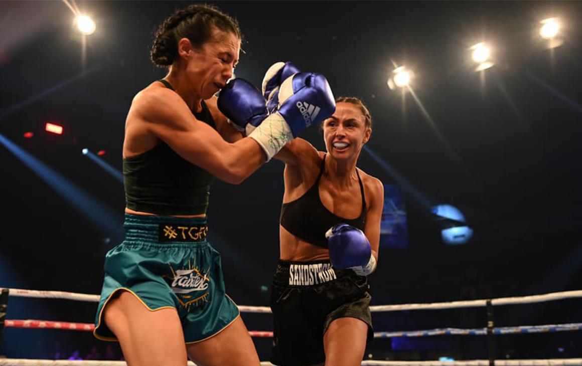 Linn Sandstrom boxing in a ring