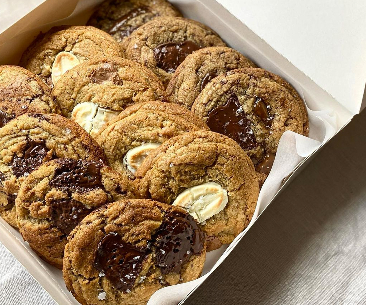 box of mixed cookies