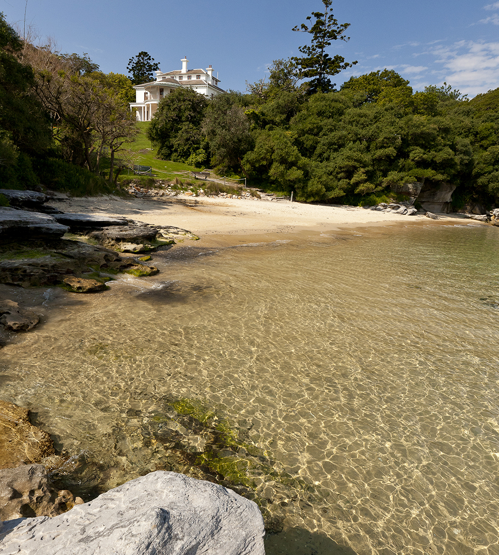 secluded beach front