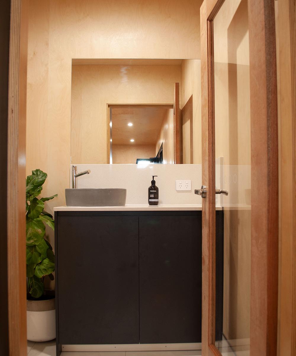 a bathroom inside a Modnpod