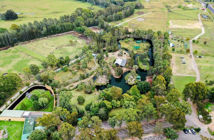 aerial of mogo zoo