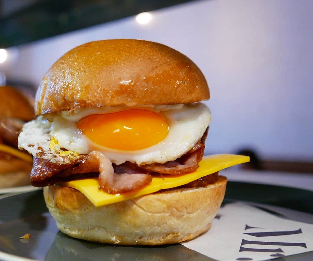 bacon and egg burger from mr cafe and bar