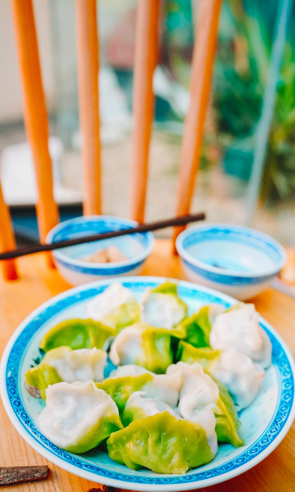 dumplings in bowl