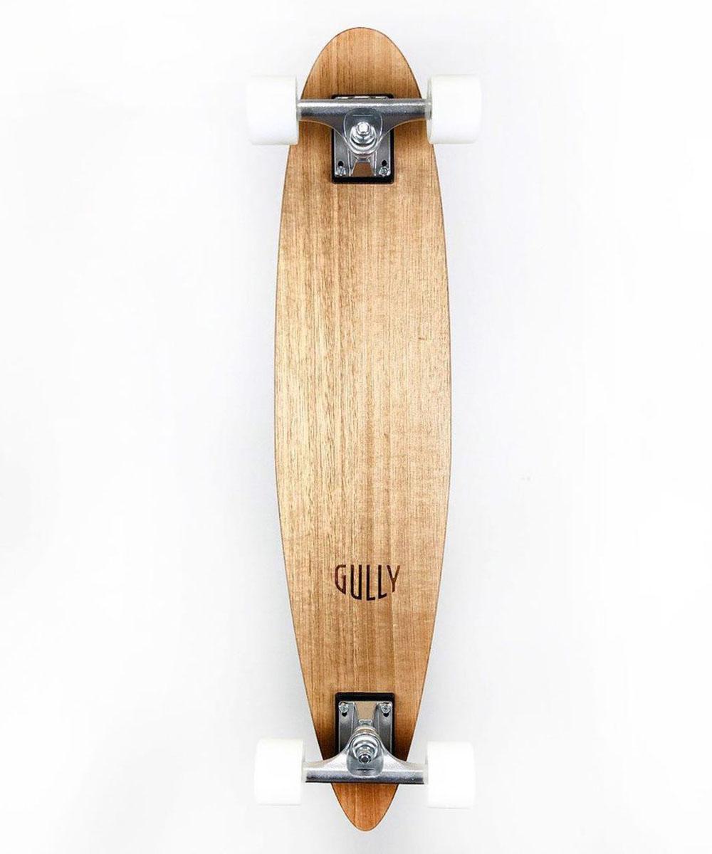a pale timber skateboard
