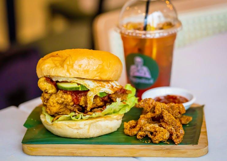 Guys, Here's The Nasi Lemak Burger Your Winter Body Deserves