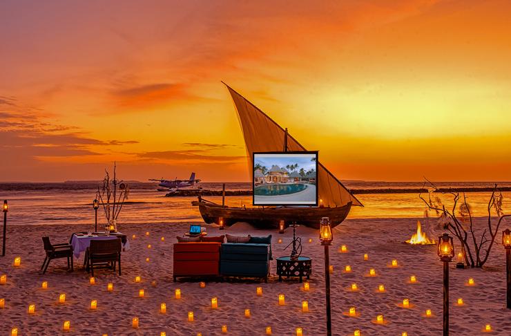 sunset cinema in the maldives