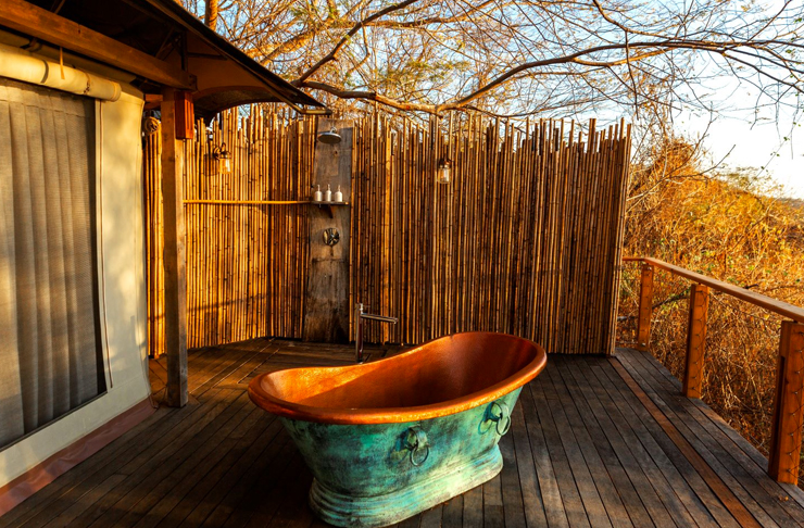 outdoor bath at costa rica's new eco resort