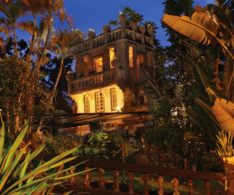 castle within rainforest
