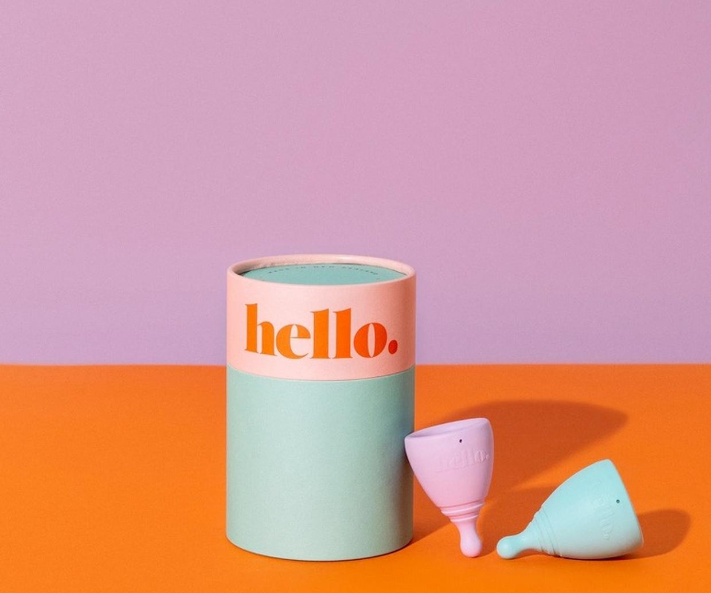 period cup near box