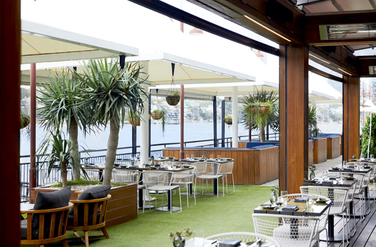 outdoor seating area at pier one sydney
