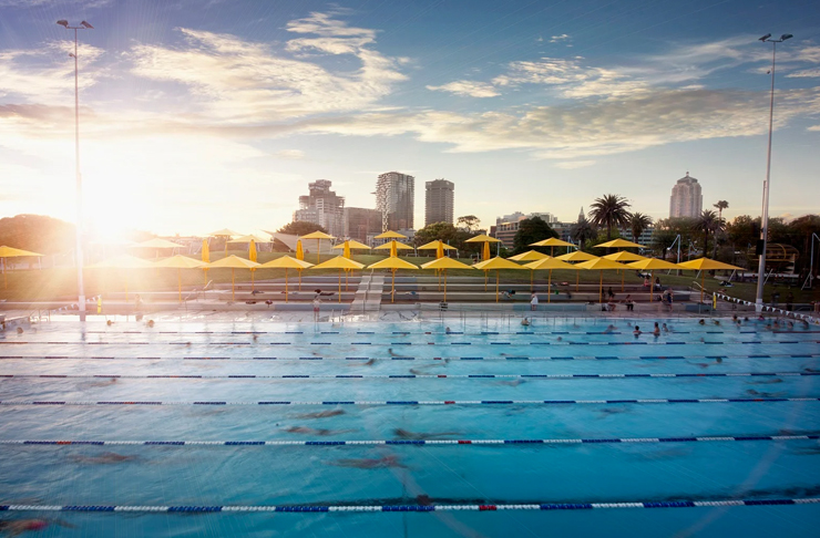 prince alfred pool at sunset