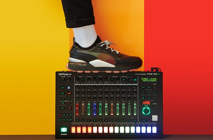 98fc83af174 Iconic Japanese instrument manufacturer Roland and of course one of our  fave global sneaker ...
