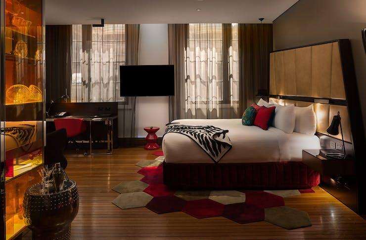 The junior suite at the QT Sydney