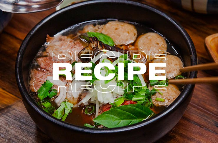 bowl of delicious pho dac biet
