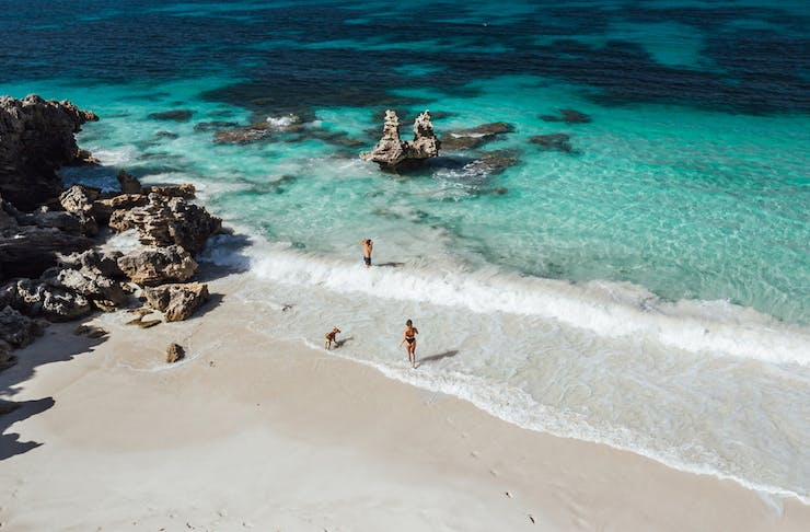 White sand and sparkling blue water of Vivonne Bay
