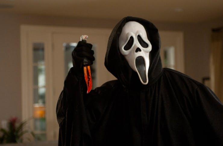 scream face from horror movie franchise scream