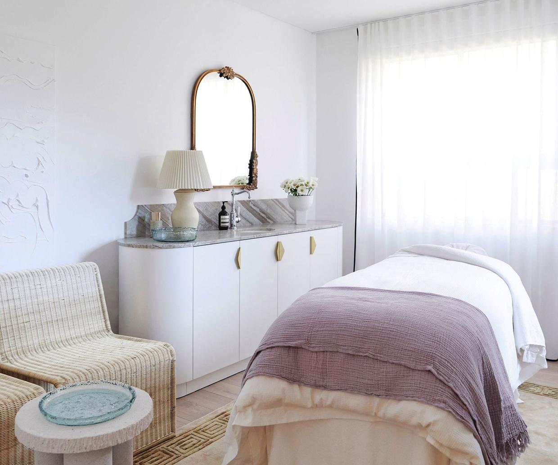 interior of massage room