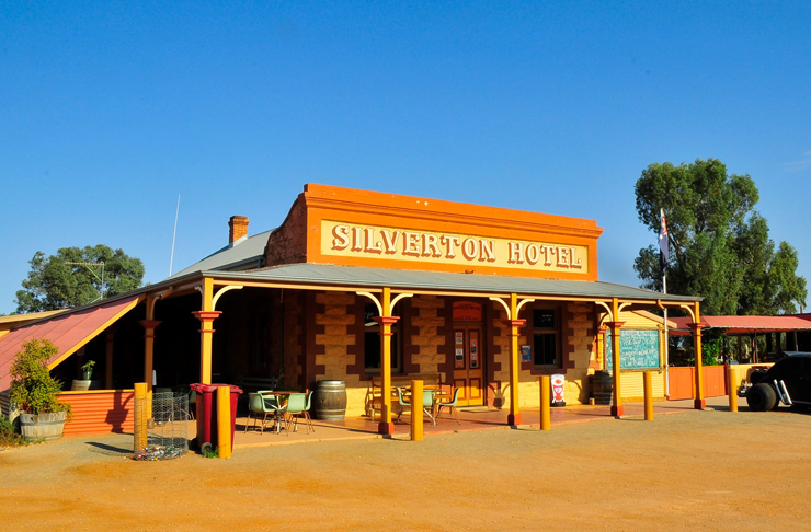 street view of iconic silverton hotel
