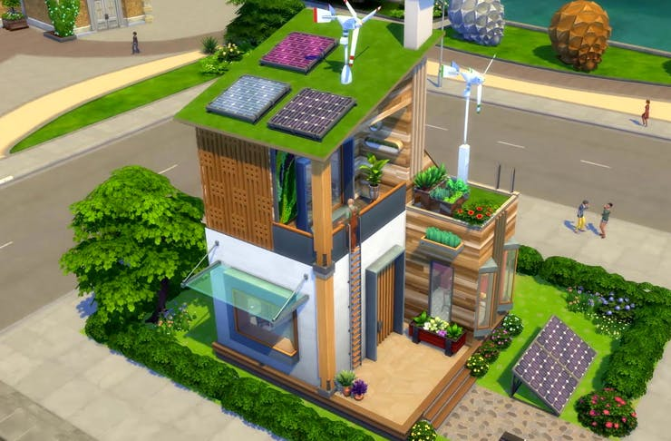 play mode of sims 4 eco living expansion pack