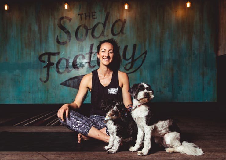 This Bar Lets You Yoga, Cuddle Pups & Drink Cocktails All In The One Night