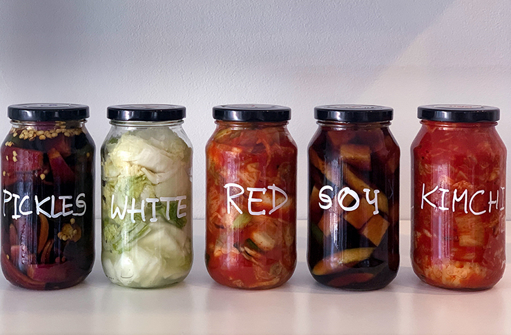 jars of kimchi