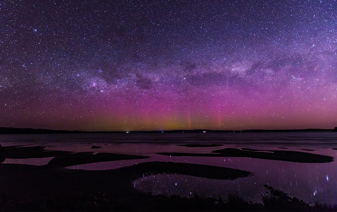 a stunning starlight sky in Tasmania